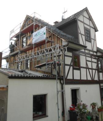 Sanierung einer Fachwerkhausfassade