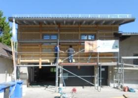 Renovierung einer Hausfassade
