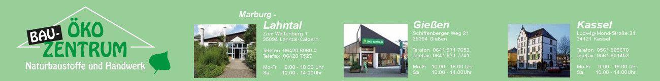 ÖKO Bau-Zentrum in Kassel, Caldern bei Marburg und Gießen