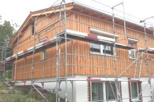 Holzverschalung - Fertighaus