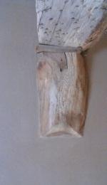 Deckenbalken - mit Lehmputz auf Holzfaserplatte