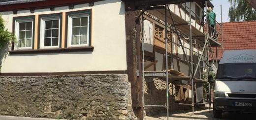 Sanierung-Renovierung am Fachwerkhaus in Langgöns OT Niederkleen