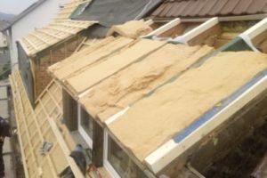 Dachdämmung-Holzfaser