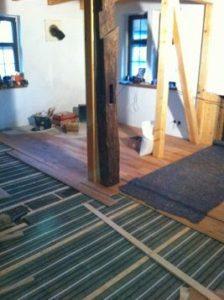 Fußbodenheizung - Lithotherm-System für Holzdielen