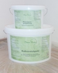 DomoNatur® Kalkstreichputz und Mineralputzgrundierung
